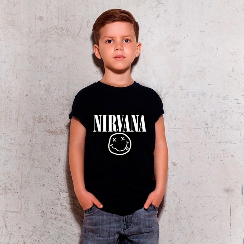 Camiseta Infantil Nirvana Preta