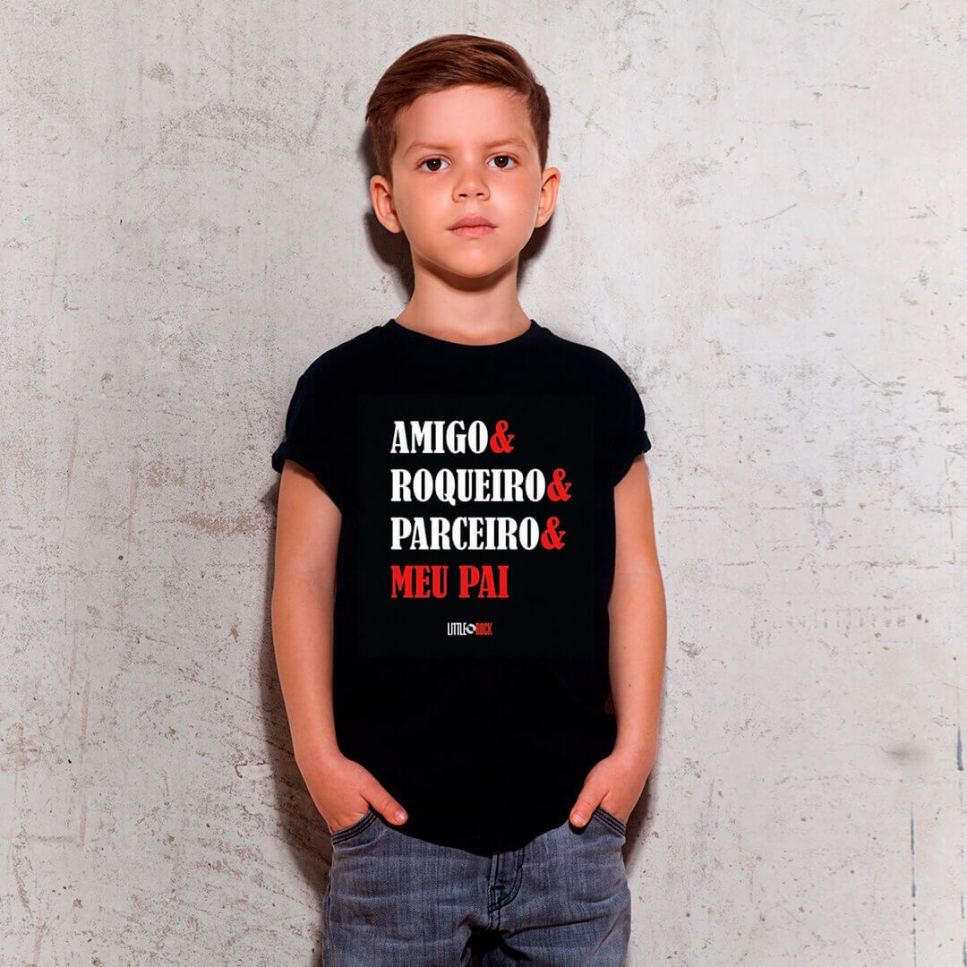 Camiseta INFANTIL Papai Parceiro Little Rock