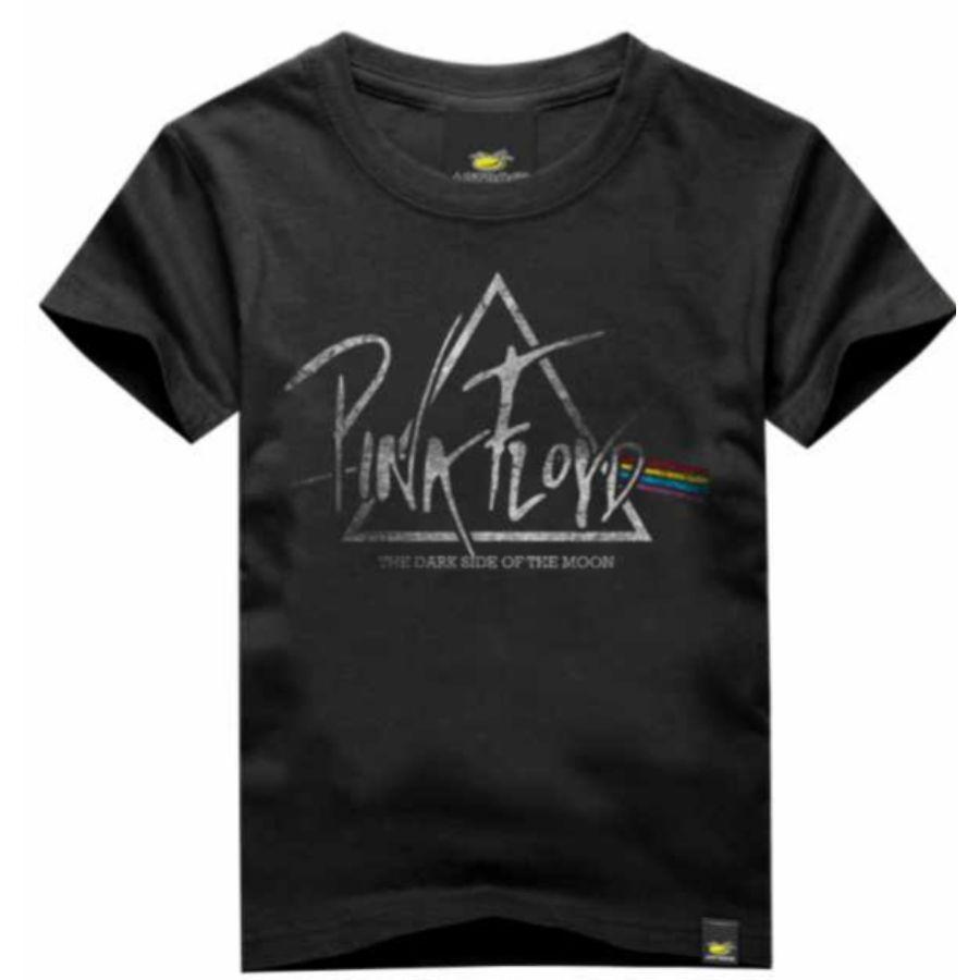 Camiseta Infantil Pink Floyd Dark Side Preta PB Art Rock