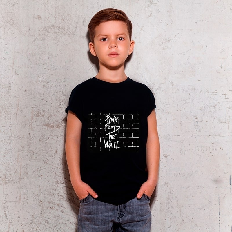 Camiseta Infantil Pink Floyd Preta
