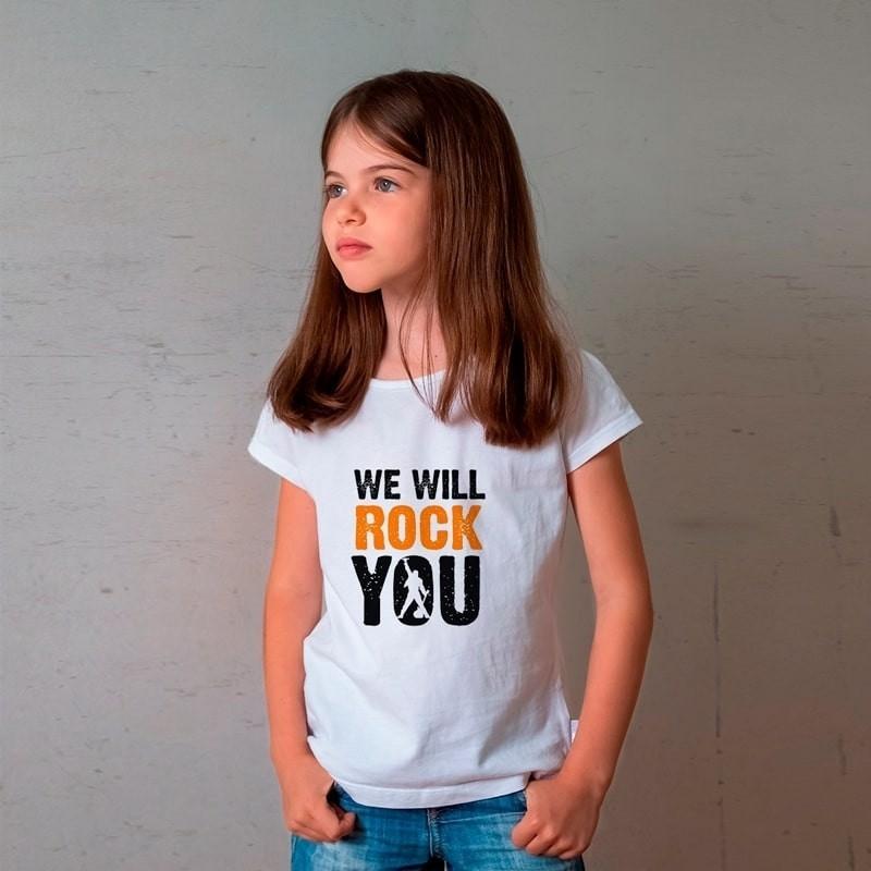 Camiseta Infantil Queen We Will Rock You Branca