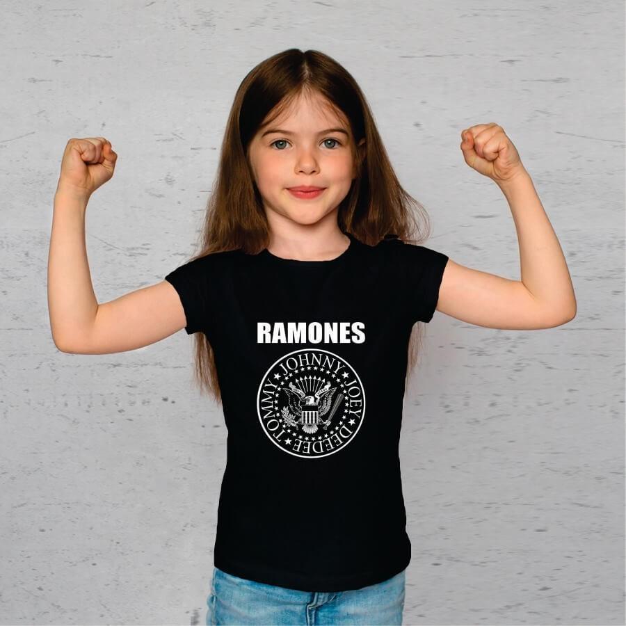 Camiseta Infantil Ramones Preta