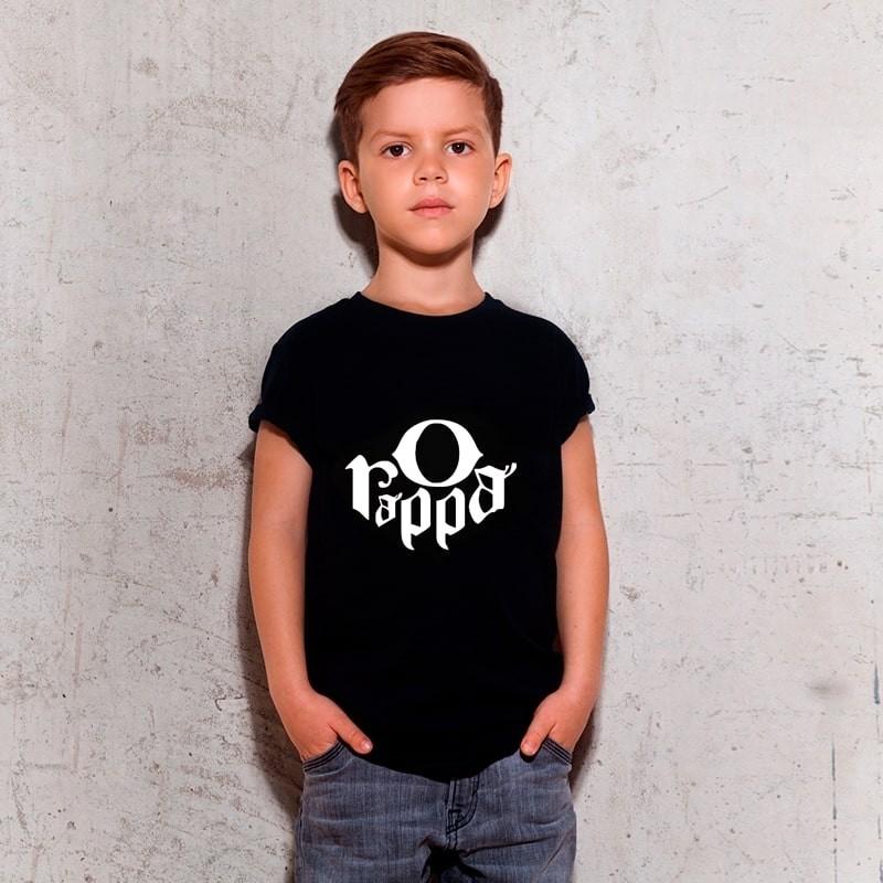 Camiseta Infantil Rappa Preta