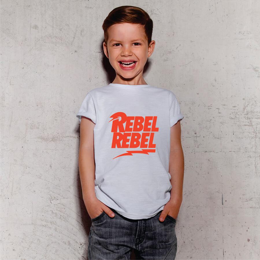 Camiseta INFANTIL Rebel David Bowie