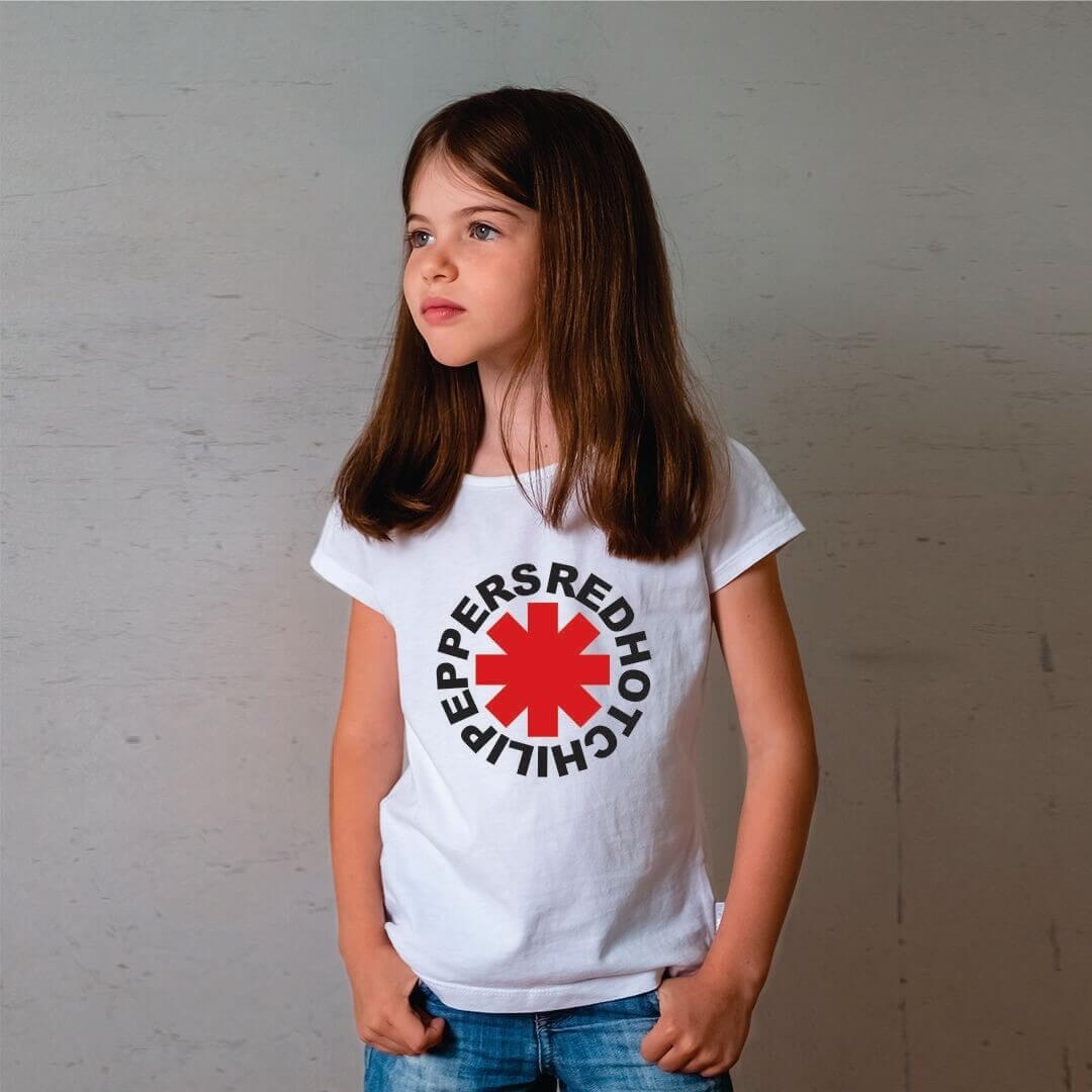Camiseta Infantil Red Hot Branca