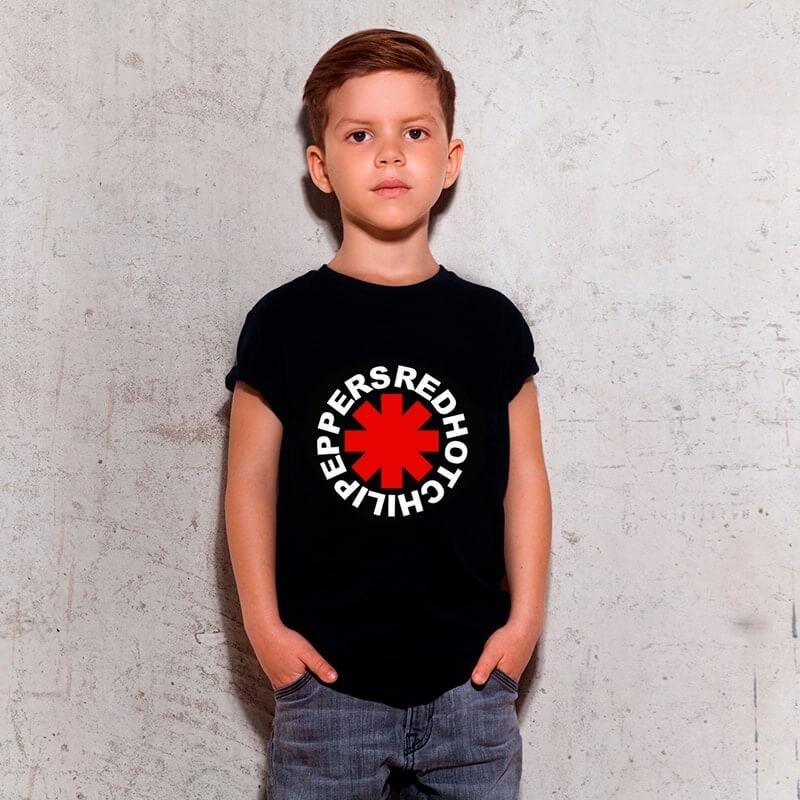 Camiseta Infantil Red Hot Preta