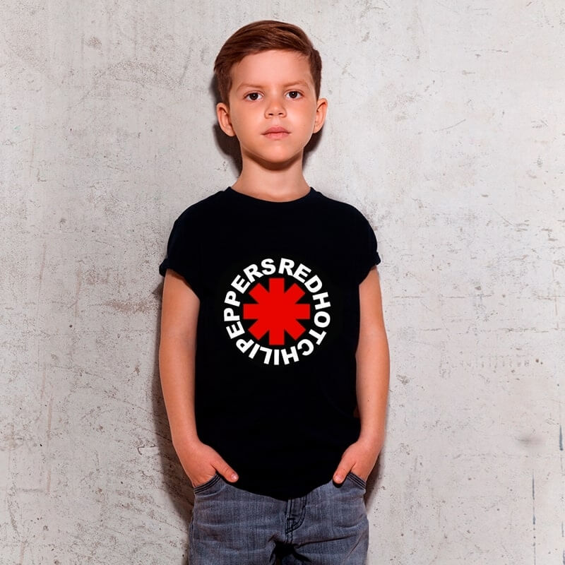 Camiseta Infantil Red Hot Preta