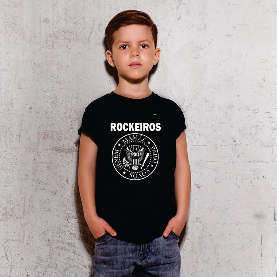 Camiseta INFANTIL Rockeiros - Ramones