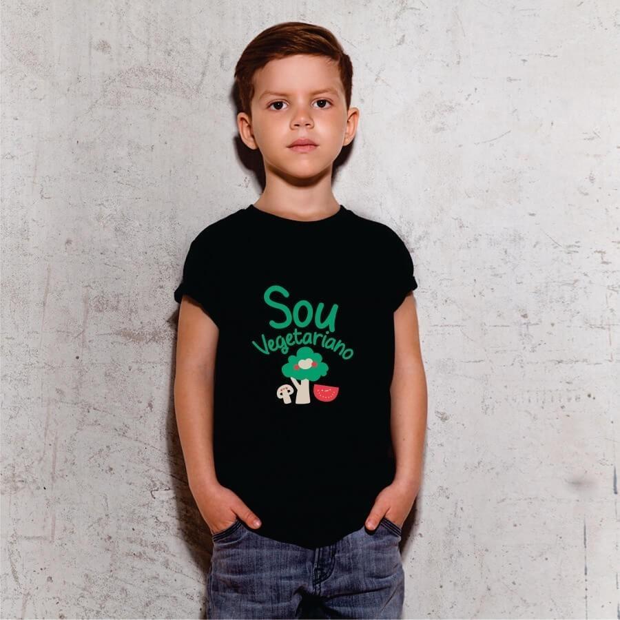 Camiseta INFANTIL Sou Vegetariano