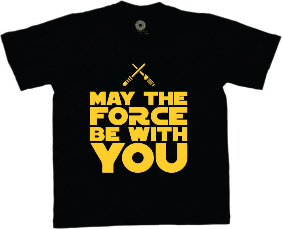 Camiseta INFANTIL Star Wars - A Força Está com você