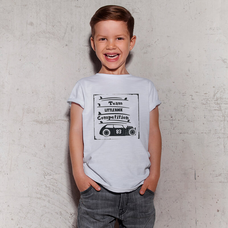 Camiseta Infantil Surf Team Branca