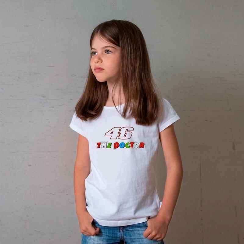 Camiseta Infantil Valentino Rossi Branca
