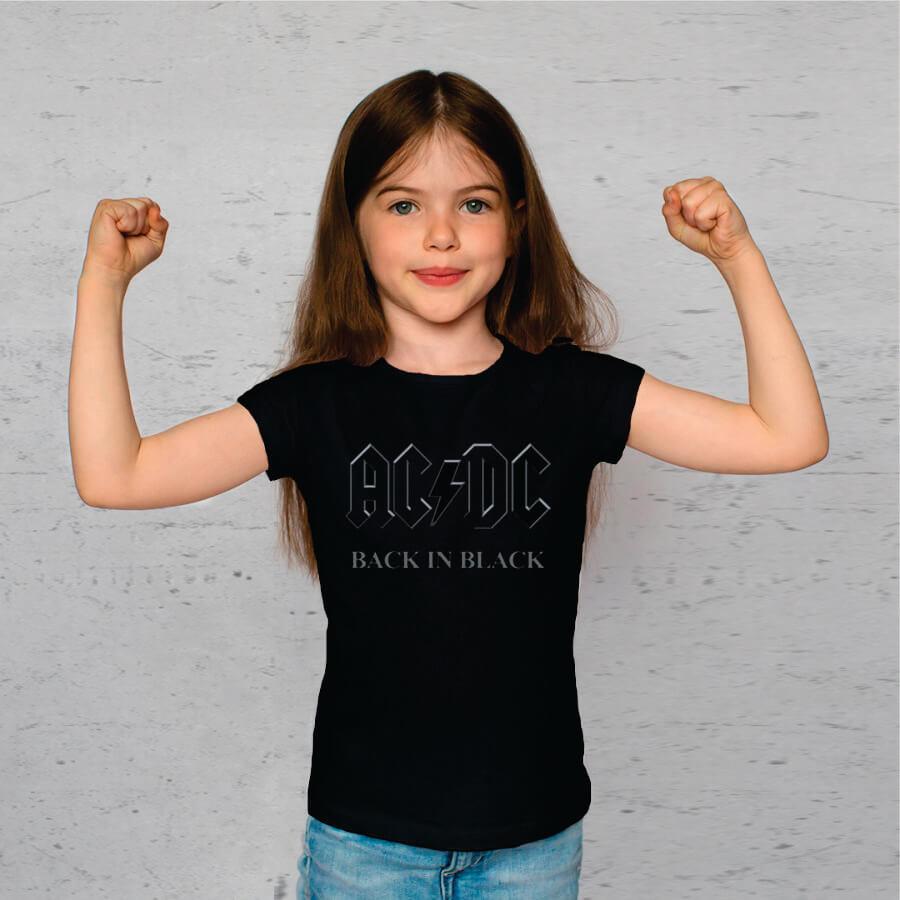 Camiseta Juvenil AC/DC Back in Black Stp