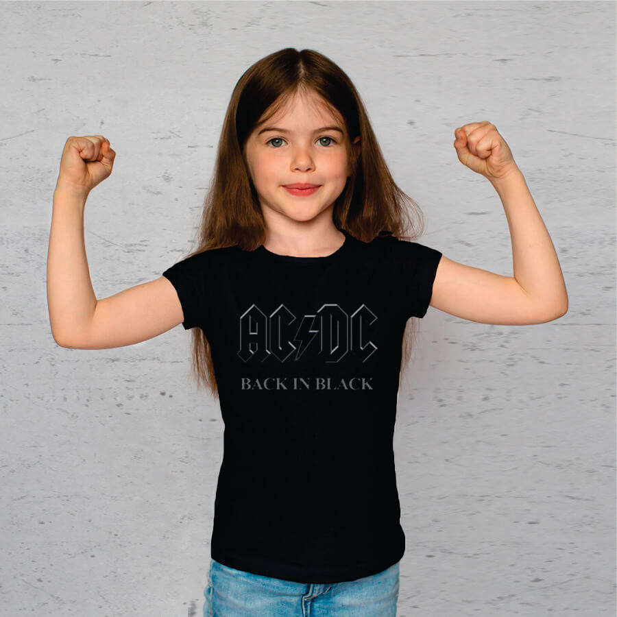 Camiseta Juvenil AC/DC Back in Black Stp
