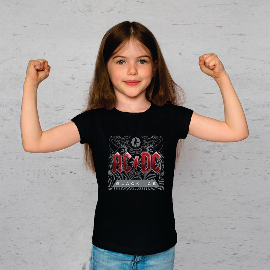 Camiseta Juvenil AC/DC Black Ice Stp