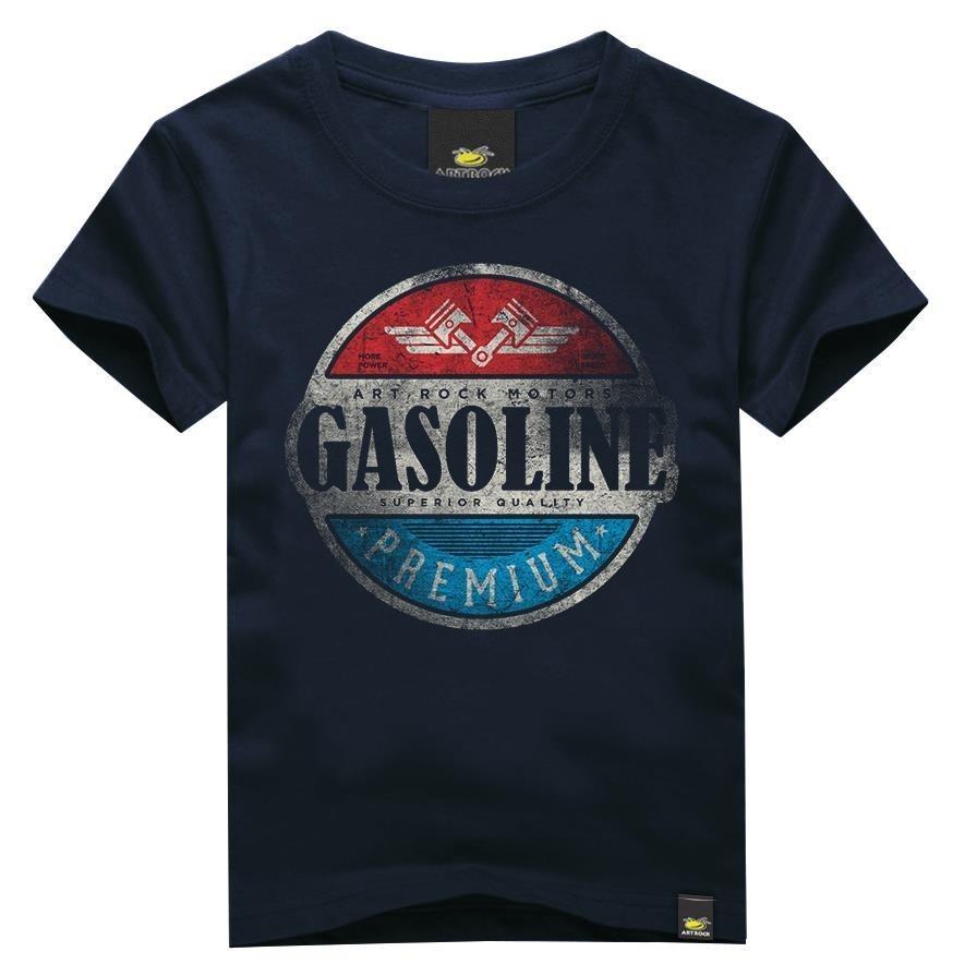 Camiseta Juvenil Gasoline Azul