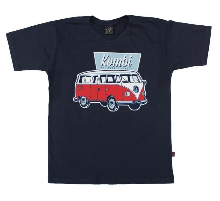 Camiseta Juvenil Kombi Azul