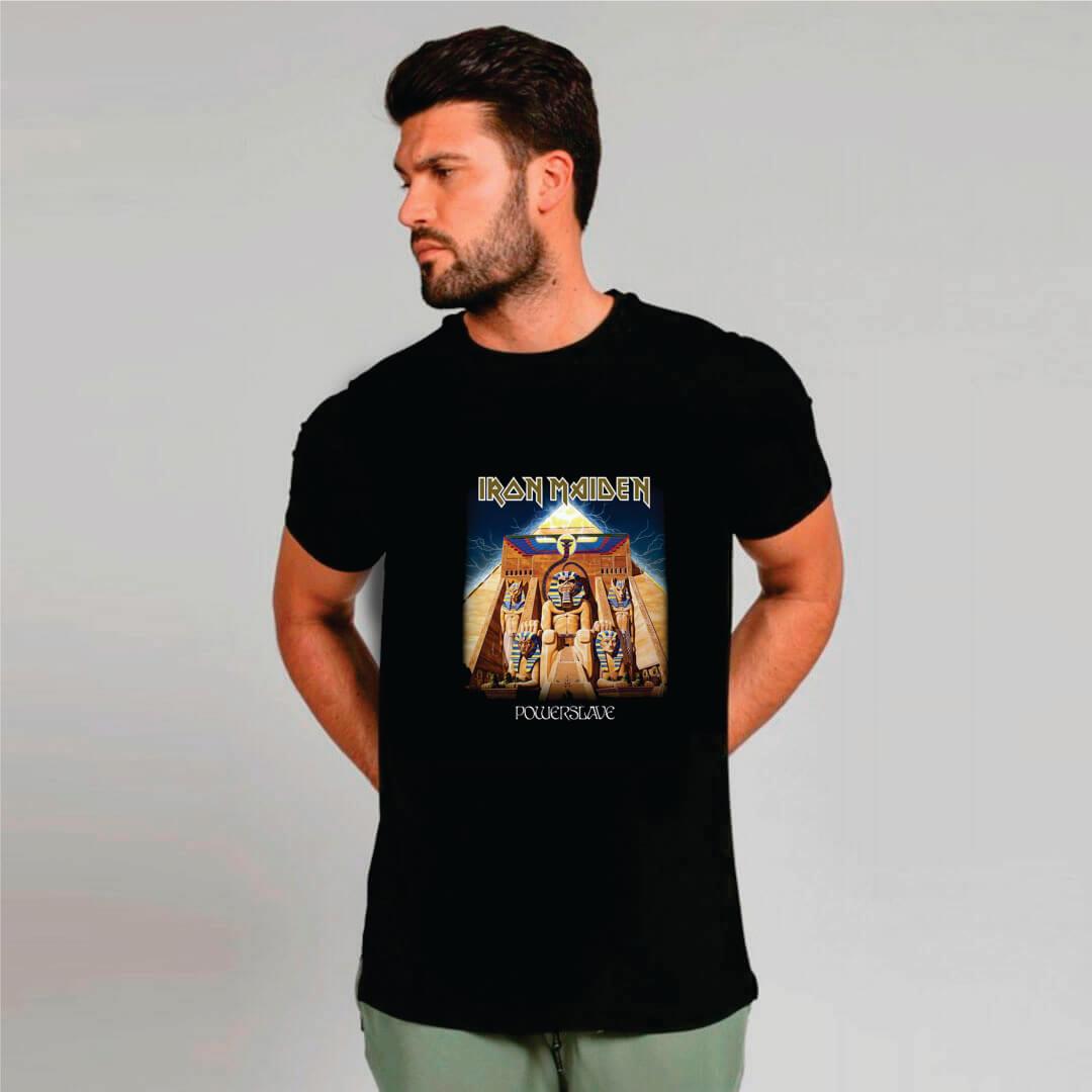 Camiseta Masculina Adulto IRON Powerslave STAMP