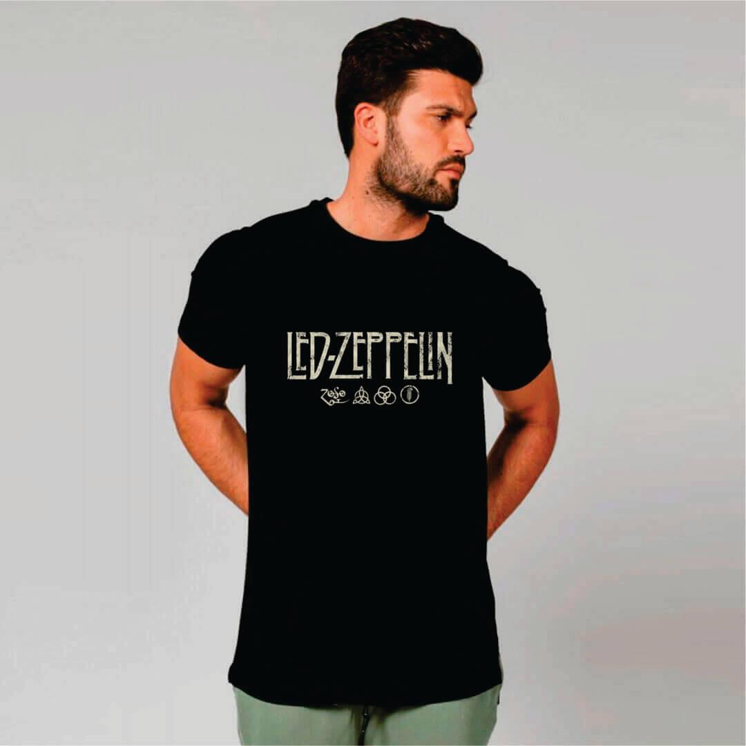 Camiseta Masculina Adulto LED ZEPPELIN Art