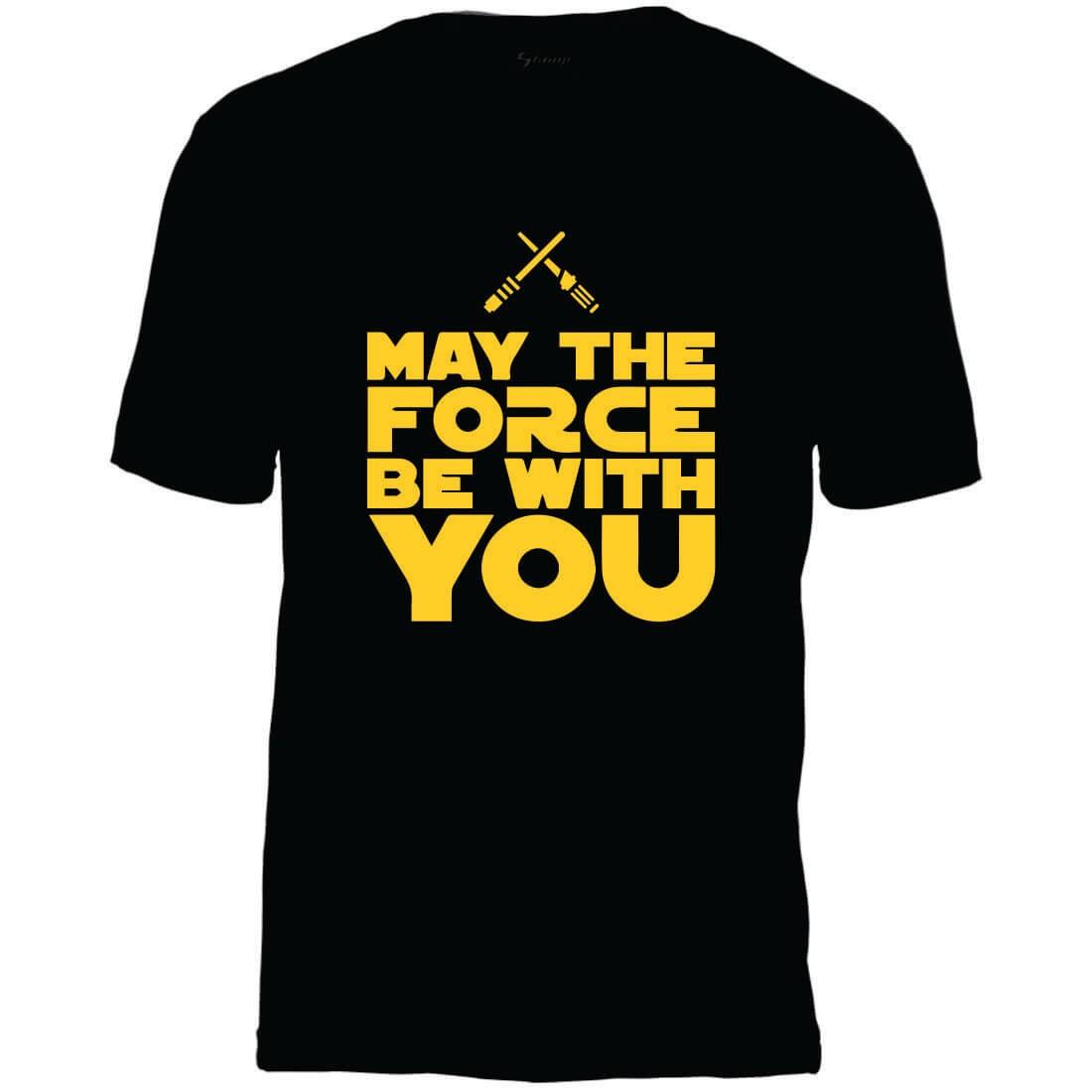 Camiseta Masculina Adulto May The Force Star Wars