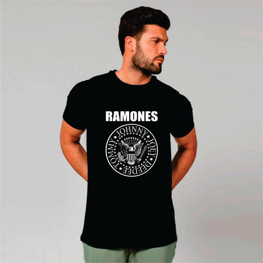 Camiseta Masculina Adulto Ramones STAMP