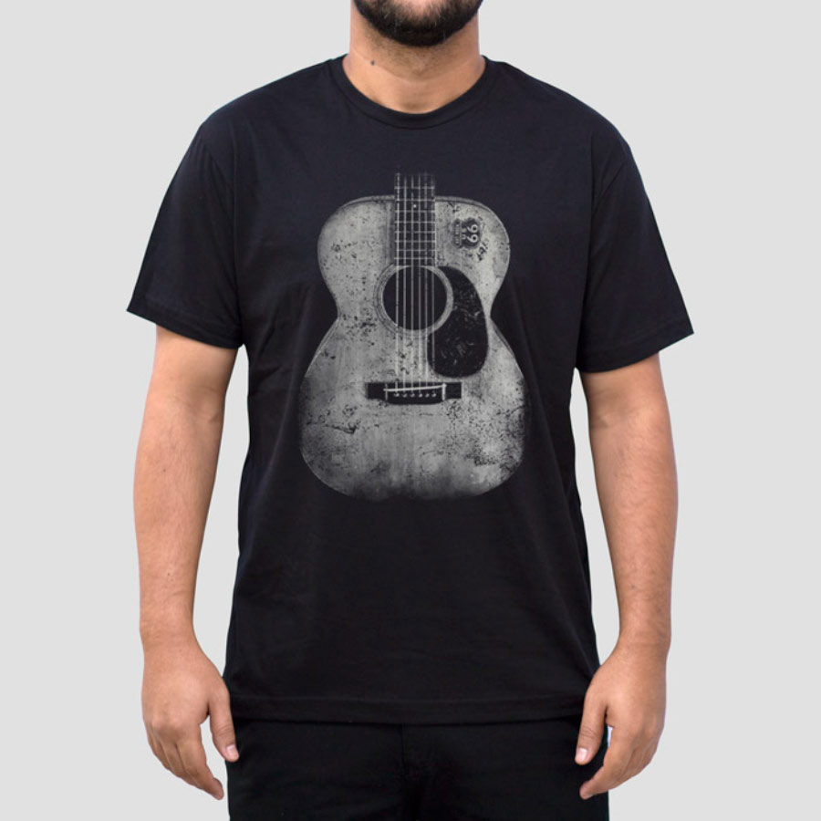 Camiseta Masculina Adulto Violão Art