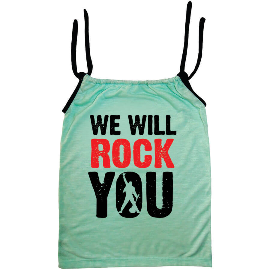 Camisola Infantil Queen Viscolycra We Will Rock You Verde