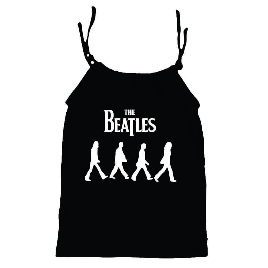 Camisola Little Rock Infantil Viscolycra Beatles Preta