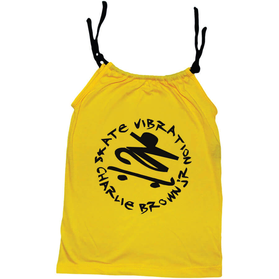Camisola Little Rock Infantil Viscolycra Charlie Brown Jr Skate Vibration Amarela