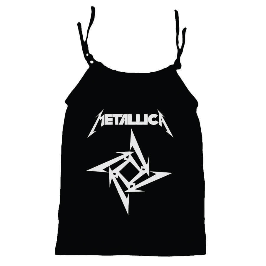 Camisola Little Rock Infantil Viscolycra Metallica Preta