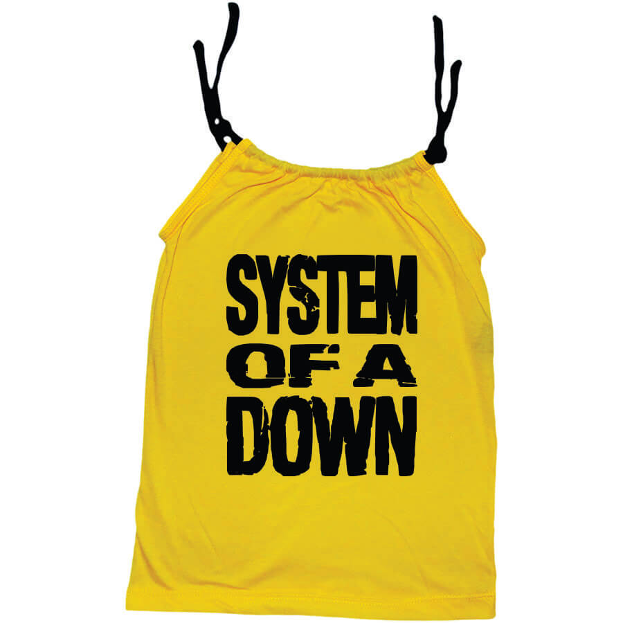 Camisola Little Rock Infantil Viscolycra System Of A Down Amarela