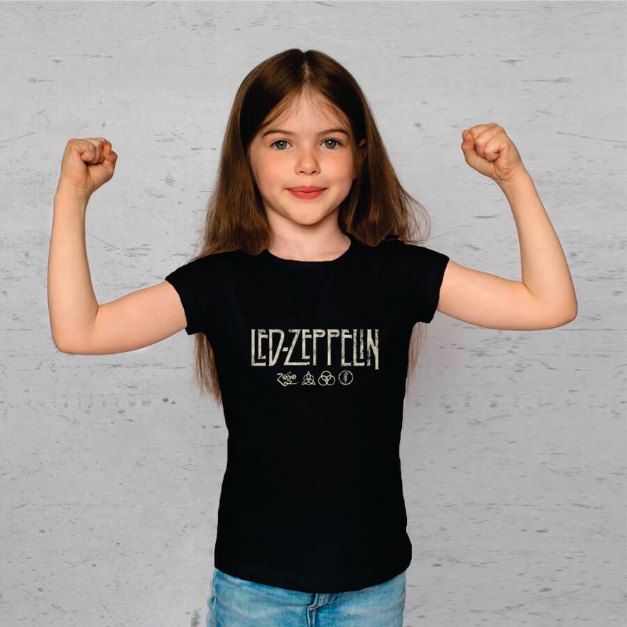 Kit Camisetas Mãe e Filha Led Zeppelin