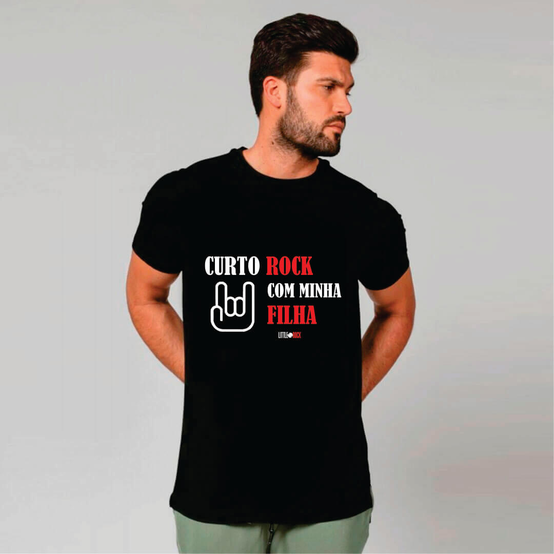 Kit Camisetas Pai e Filha Curto Rock
