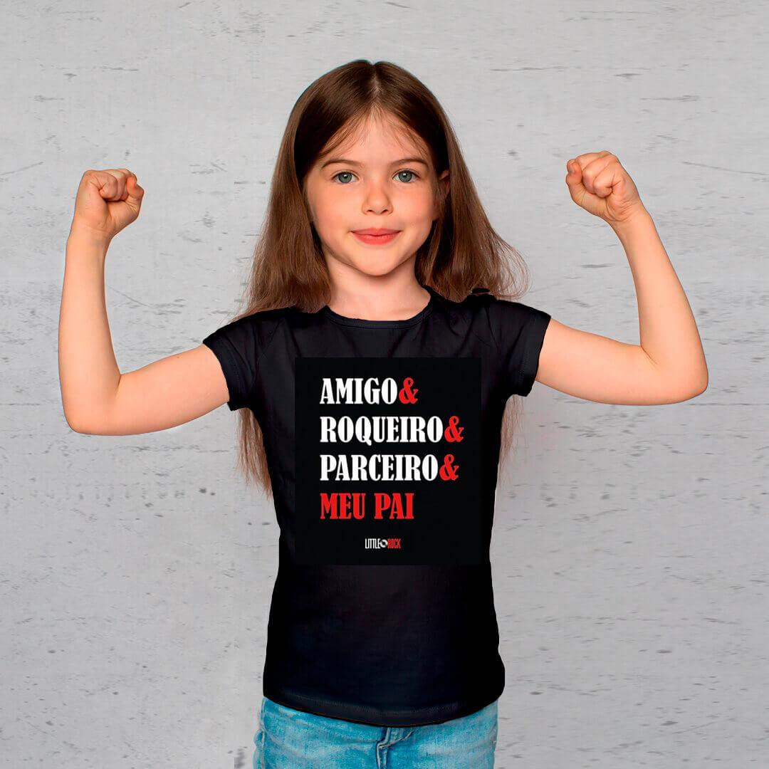 Kit Camisetas Pai e Filha Parceiros