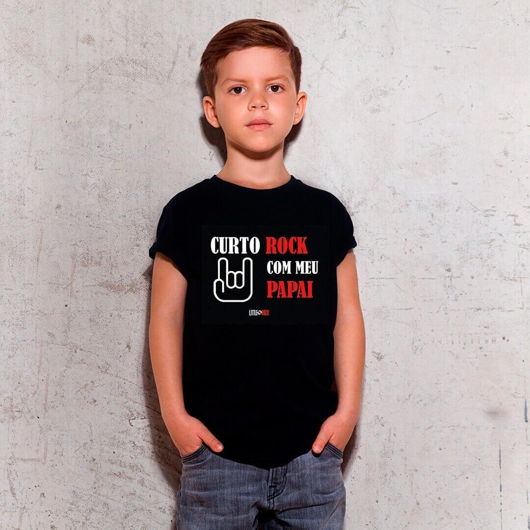 Kit Camisetas Pai e Filho Curto Rock