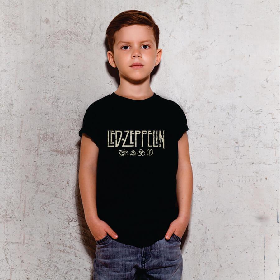 Kit Camisetas Pai e Filho Led Zeppelin