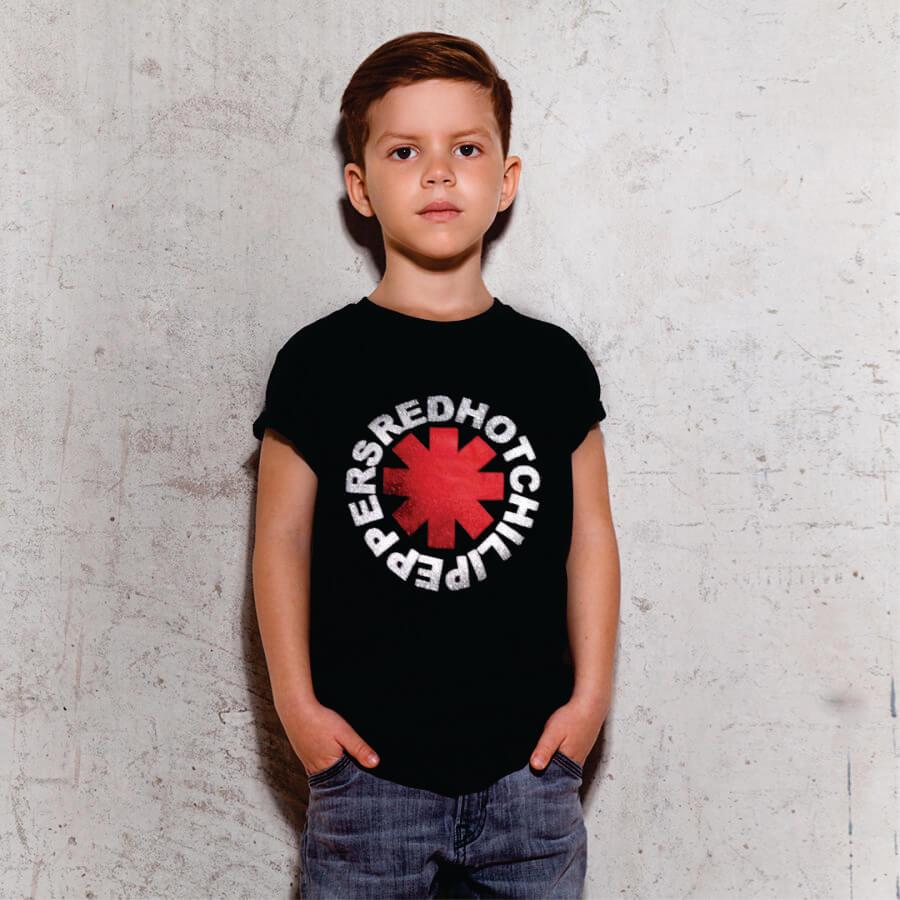 Kit Camisetas Pai e Filho Red Hot Chilli Peppers
