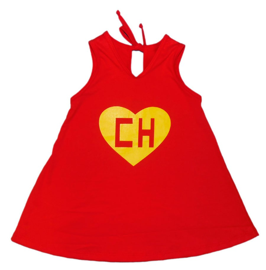 Vestido / Bata Bebê Chapolin Colorado