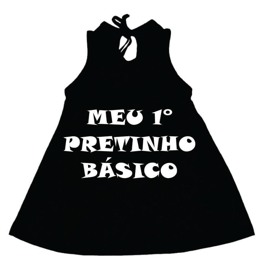 Vestido / Bata Bebê Meu Primeiro Pretinho Básico