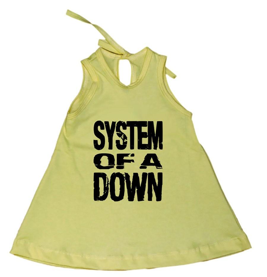 Vestido Bebê System Of A Down Amarelo
