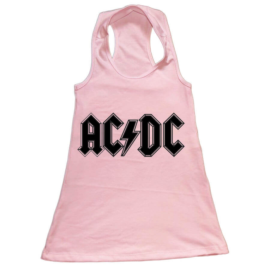 Vestido Infantil AC/DC Rosa