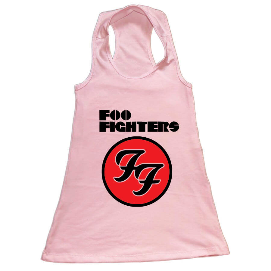 Vestido Infantil Foo Fighters Rosa