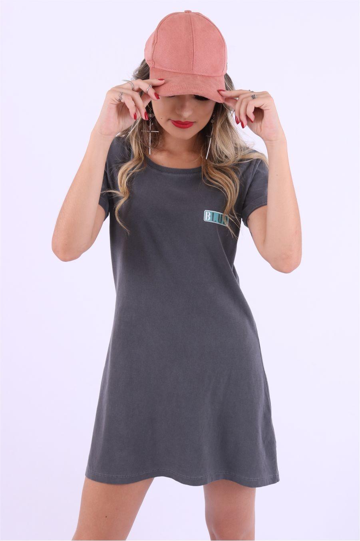 Vestido T-shirt Liso Blur Stone by Little Rock