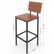 Cadeira Alta de Madeira HP-00872R Kit com 5
