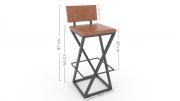 Cadeira Alta De Madeira Trançada P/ Sua A Bancada Kit Com 4