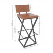 Cadeira Alta De Perna Trançada HP-00882G Kit  Com 5