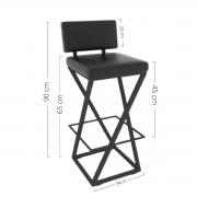 Cadeira Moderna Preta Estilo Industrial Duradoura Hp-01065g