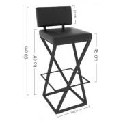 Cadeira Preta Hp-01065g 3 UNIDADES
