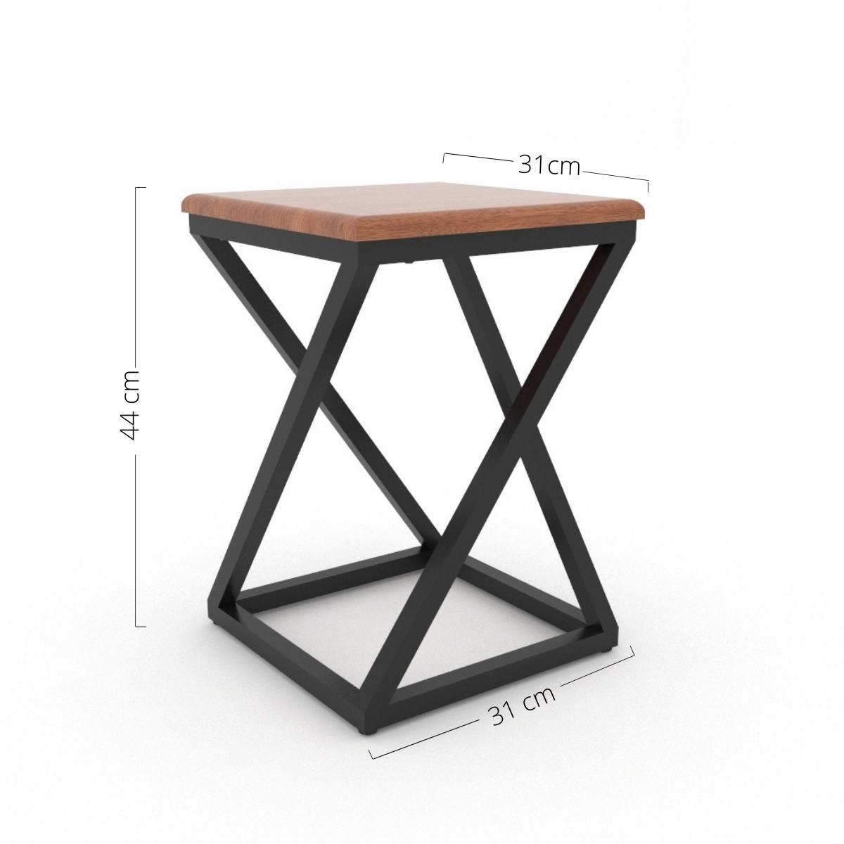 Banqueta de madeira HP-00244G Kit com 4