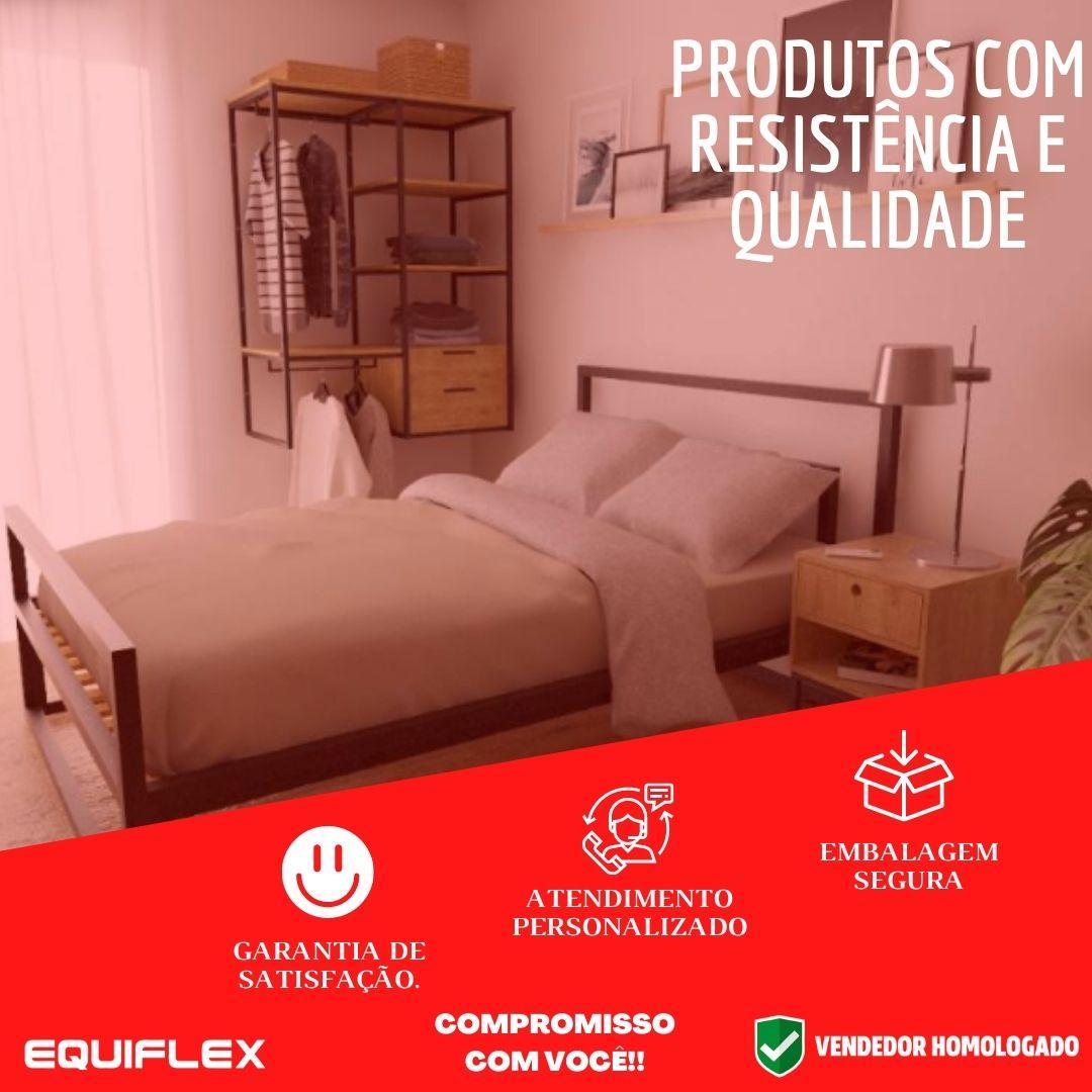 Prateleira Industrial Mdf E Metalon Kit Com 5 Peças
